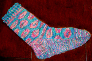 Finished Poppy Sock